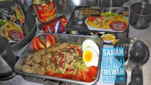 Kreasi Bakmi Mewah Ala Restaurant di Alam Terbuka Rumahnya Pecinta Mayapada