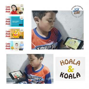 Anak senang melihat animasi 3 D Hoala & Koala