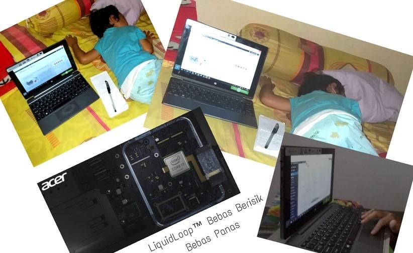 Kebiasaan buka komputer di kasur saat anak sudah tidur bakal makin sempurna setelah pakai Acer Switch Alpha 12