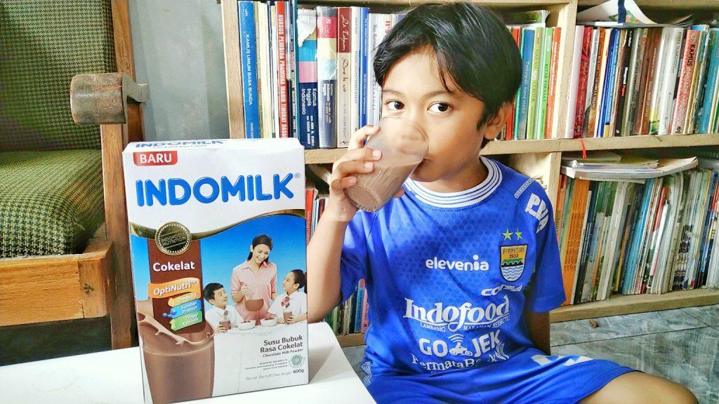 Susu Indomilk cokelat untuk anak tinggi tangguh tanggap