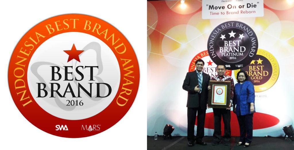 IndiHome Indonesia Best Brand Award 2016 Kategori Internet Broadband. Sumber IndiHome