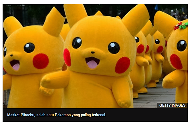 Pokemon yang saya kenal, sumber bbc.com