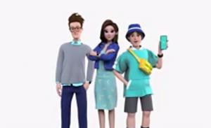 Benni, Lea, dan Utta icon dari ekosistem digital blu yang menyasar para digital savvy