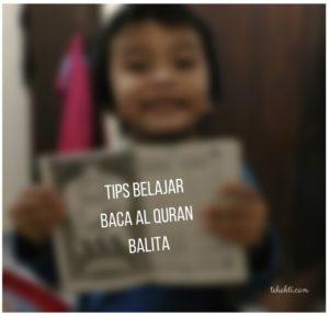 Tips Belajar Membaca Al Quran untuk Balita