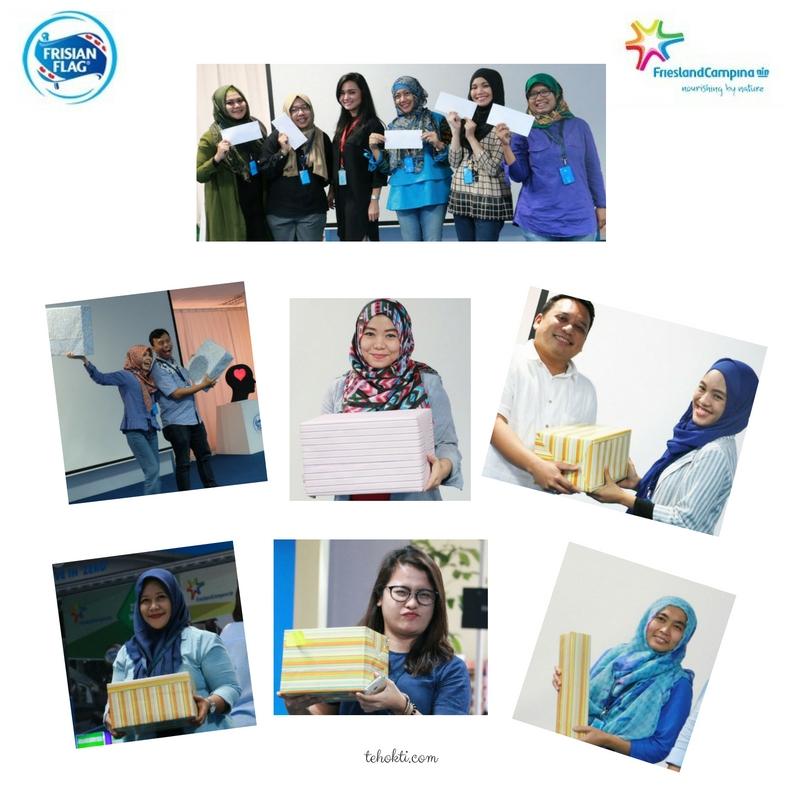 Senangnya dapat doorprize! Foto by Katerina, Ratna Dewi, dan Dokumentasi Frisian Flag